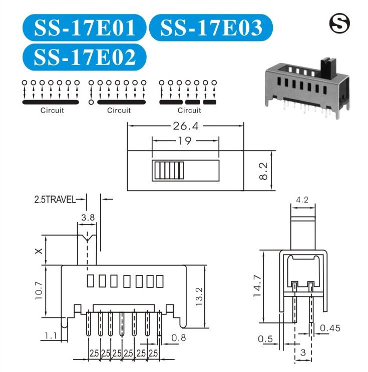 SS-17E01按键开关的参数